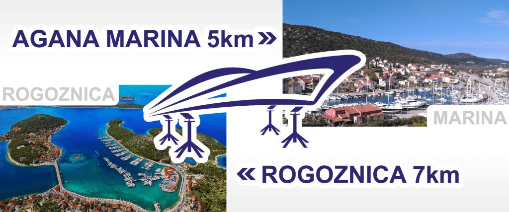Agana Marina 5km, Marina Frapa 7km